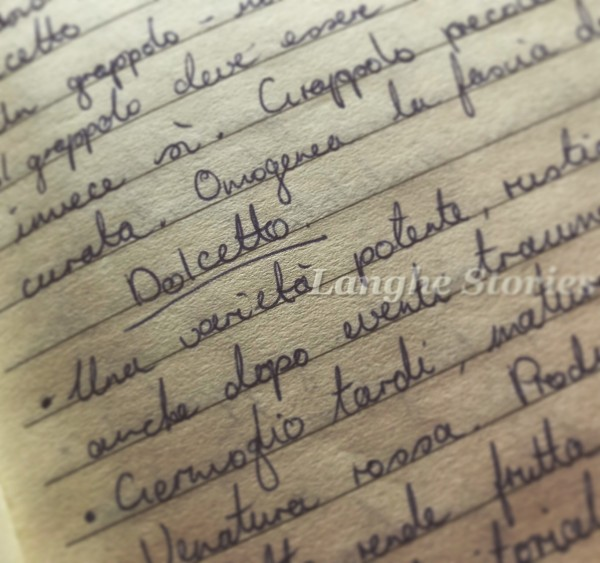 Dolcetto notes